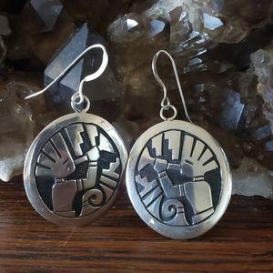 Jewelry - Stirling Silver Indigenous Earrings